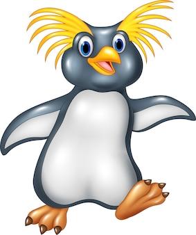 Rockhopper de pinguim feliz dos desenhos animados