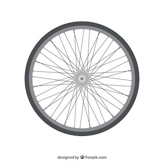 Roda da bicicleta e raios.