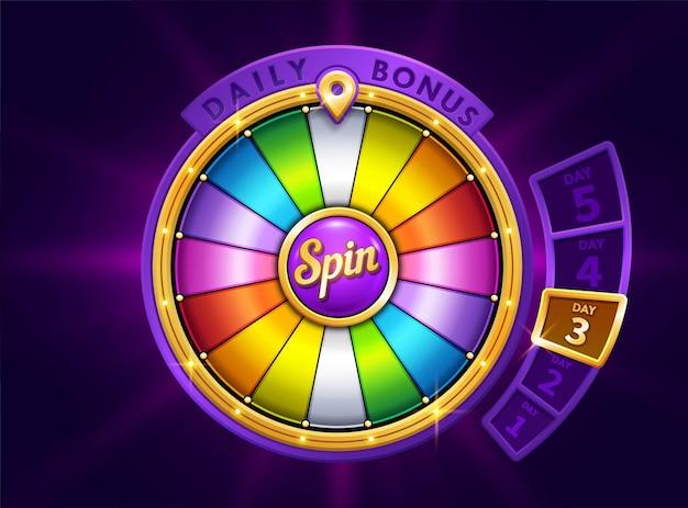 Roda da fortuna colorida