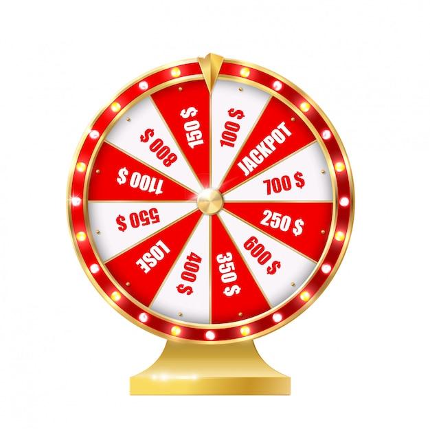 Roda da fortuna dourada realista