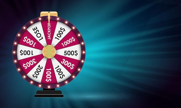 Roda da fortuna, fundo afortunado. ilustração vetorial