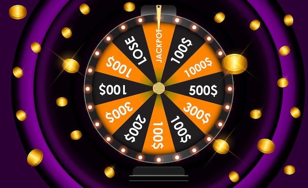 Roda da fortuna, ícone da sorte com lugar para texto. ilustração vetorial eps10