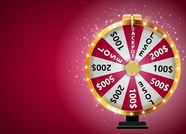 Roda da fortuna, ícone da sorte com lugar para texto. ilustração vetorial