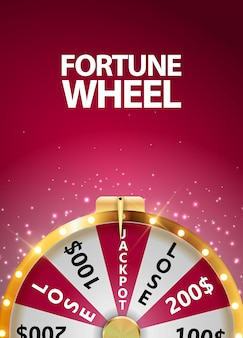 Roda da fortuna, ícone da sorte com lugar para texto. ilustração