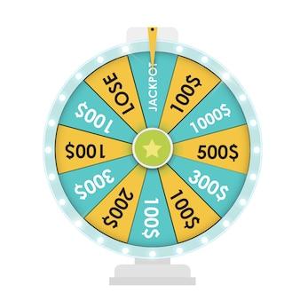 Roda da fortuna, ícone da sorte. ilustração