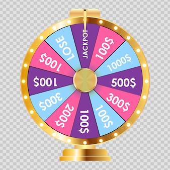 Roda da fortuna, ícone da sorte.