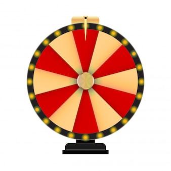 Roda da fortuna, ícone de sorte com lugar para texto.