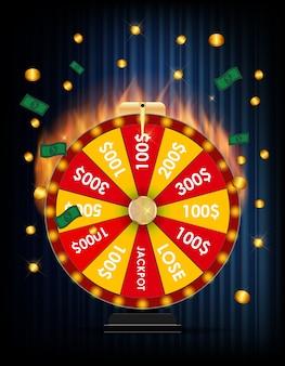 Roda da fortuna, ilustração de jogos de azar