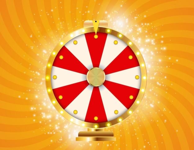 Roda da fortuna, ilustração de sorte