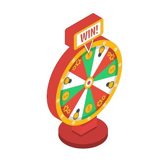 Roda da fortuna isométrica