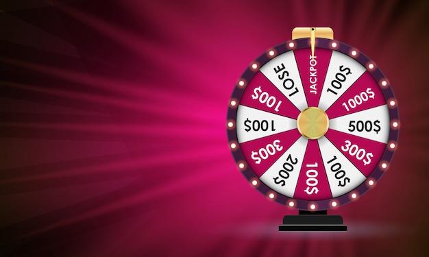 Roda da fortuna, jogo da sorte.
