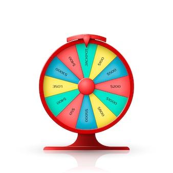 Roda da fortuna. objeto 3d isolado no fundo branco