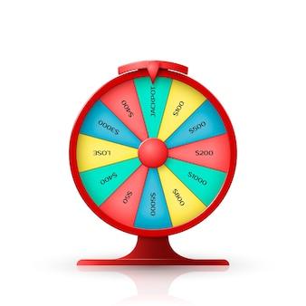 Roda da fortuna. objeto em fundo branco. ilustração