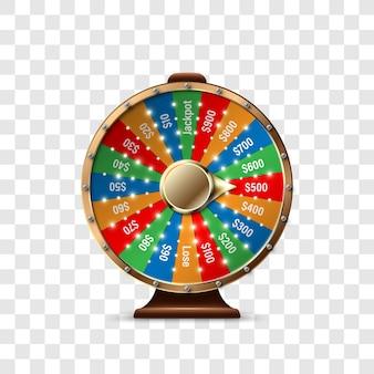 Roda da fortuna para ganhar o jackpot
