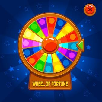 Roda da fortuna para jogo de interface do usuário