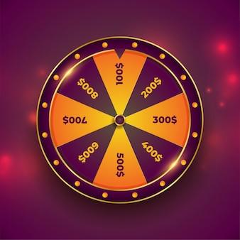 Roda da sorte fortuna em bokeh