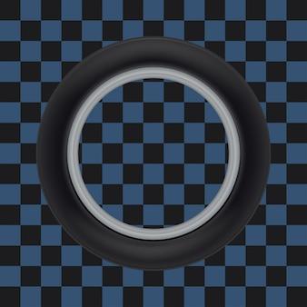 Roda de carro girando