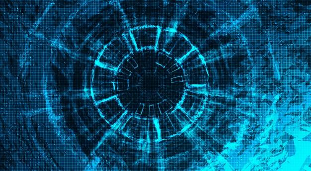 Roda de engrenagens abstratas da tecnologia e galo no fundo da tecnologia.