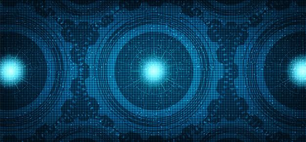 Roda de engrenagens de tecnologia digital e fundo de galo