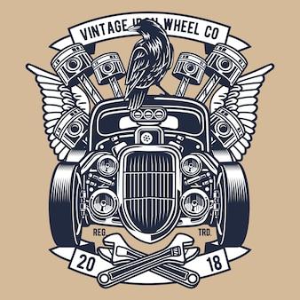 Roda de ferro vintage