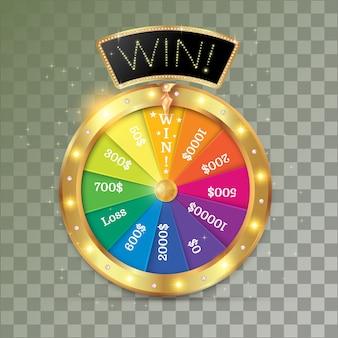 Roda do objeto da fortuna 3d.