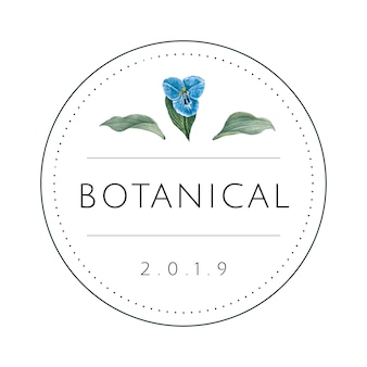 Rodada botânica design de logotipo vector