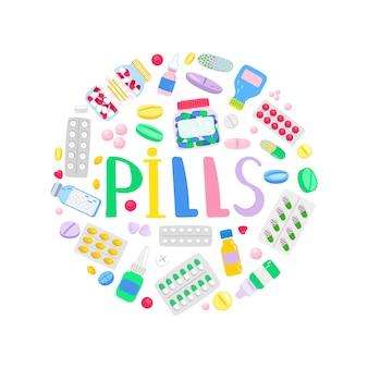 Rodada de medicamentos e medicações