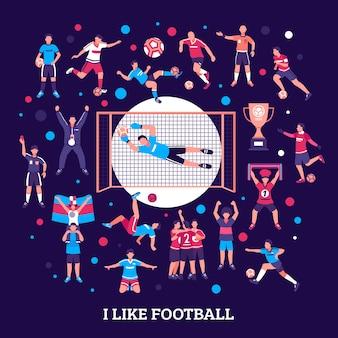 Rodada de torcedores de futebol