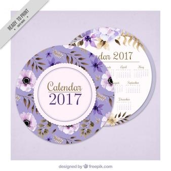Rodada floral 2017 calendário