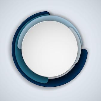 Rodada ou círculo quadro abstrato com copyspace