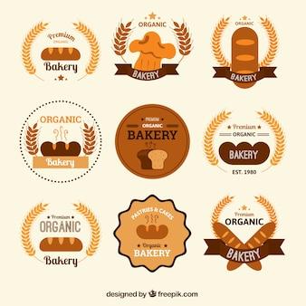 Rodada pacote de emblemas de padaria