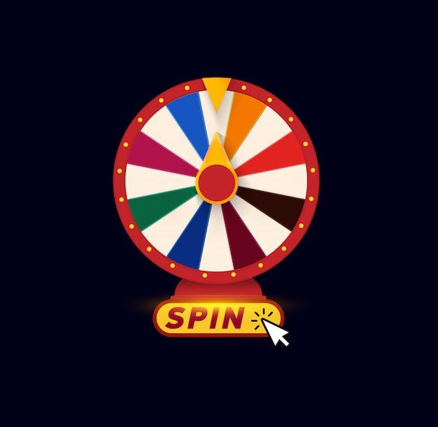 Rodas da fortuna. logotipo de jogos de azar.