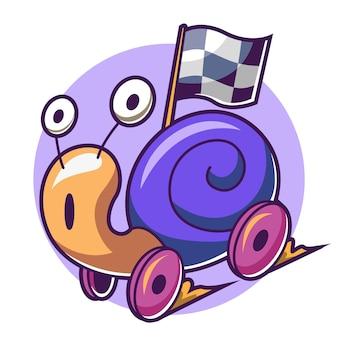 Rodas de caracol em movimento rápido