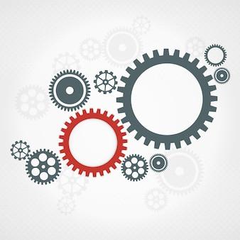 Rodas de engrenagem. conceito de trabalho em equipe.