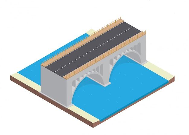 Rodovia isométrica na ponte