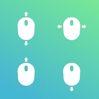 Role com ícones do vetor do mouse
