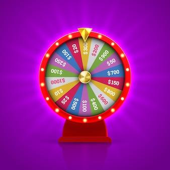 Roleta da roda da fortuna para jogar jogo de loteria.
