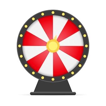 Roleta da sorte da roda da fortuna isolada no branco Vetor Premium
