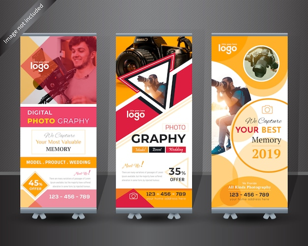 Roll up banner design de fotografia