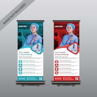 Roll up banner medical