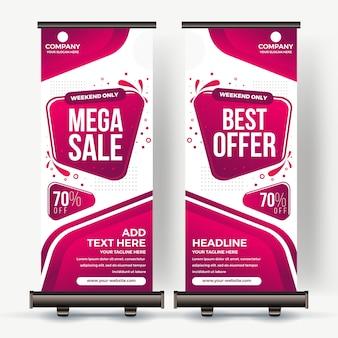 Roll up banner melhor venda cor moderna