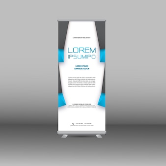Roll up banner new template design