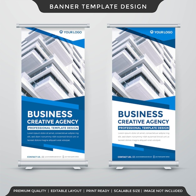 Roll up banner template premium style