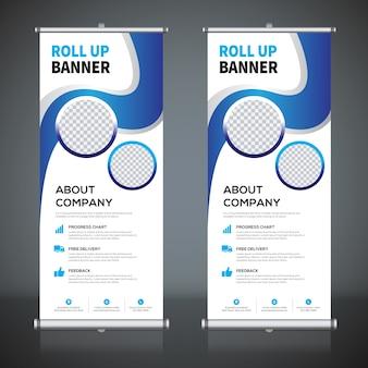 Roll up modelos de design de banner