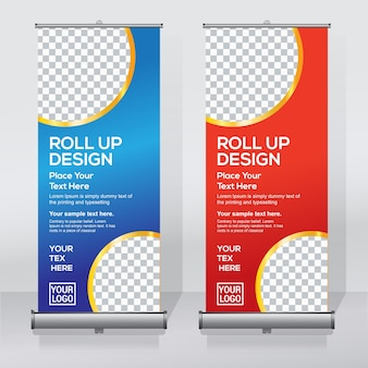 Roll up template banner
