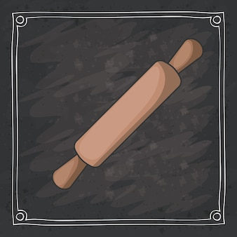 Rolling pin de design de instrumento de padaria