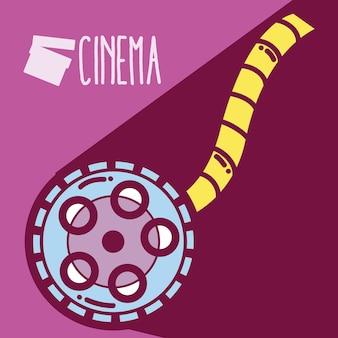 Rolling reel cinema bonito dos desenhos animados conceito