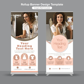 Rolling standee banner template