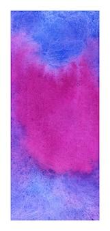 Rollup azul e magenta banner fundo aquarela