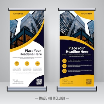 Rollup corporativa ou modelo de design de banner x